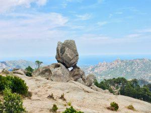 Aussicht von der Wanderung zum Cascade de Piscia di Gallo