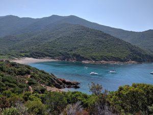 Blick auf die Bucht bei der Wanderung nach La Girolata