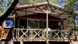 Bungalow auf dem Campingplatz Les Iles bei Bonifacio