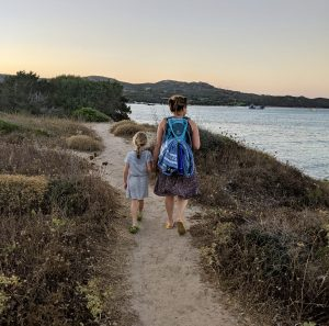 Fußweg vom Camping Korsika zum Plage du petit Sperone