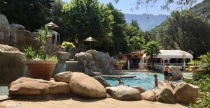 Korsika wandern und baden Campingplatz Les Oliviers Porto Pool