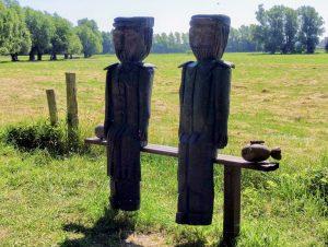 Skulpturen auf der Mönchgut Halbinsel bei Middelhagen