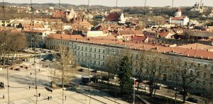 Ausblick vom Turm bei der Basilika St. Stanislaus auf Vilnius