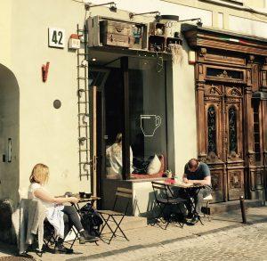 Café an der Pilies Gatve in Vilnius