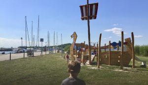 Hafen Thiessow mit Spielplatz