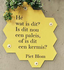 Schild von Piet Blom