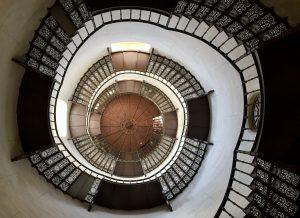 Die Treppe im Turm des Jagdschloss Granitz