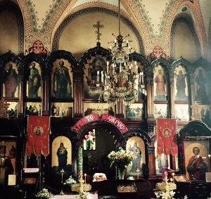 Innenansicht einer typischen Kirche in Vilnius