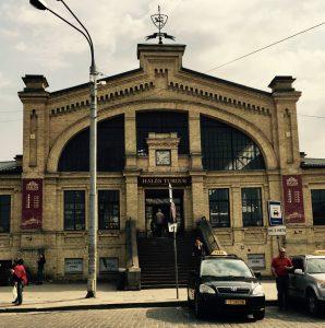 Die Markthalle Vilnius von außen