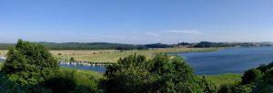 Blick von der Moritzburg auf das Mönchgut
