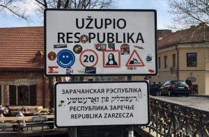 Uzupis Ortsschild