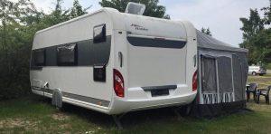 Unser Mietwohnwagen auf dem Campinplatz in Lobbe auf Rügen